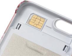 SIMカード保管フォルダ装備ミラーケース