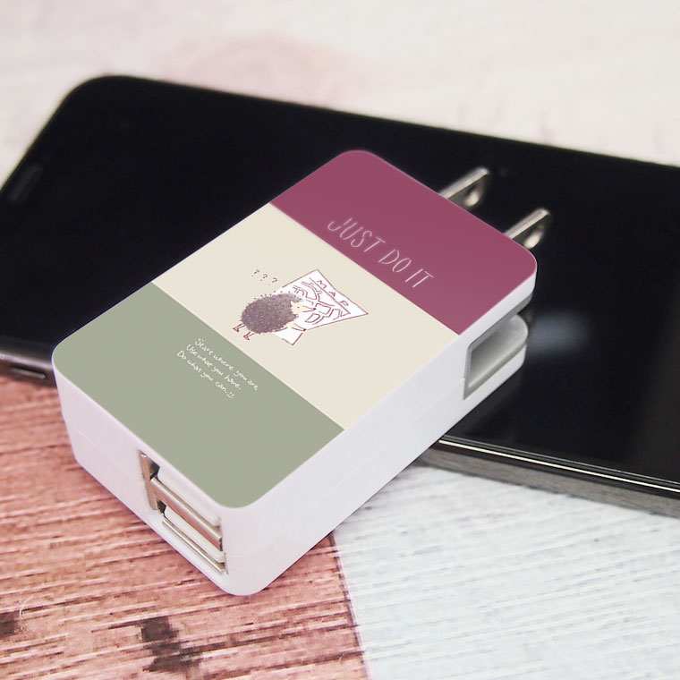 USB-ACアダプターのオリジナル印刷