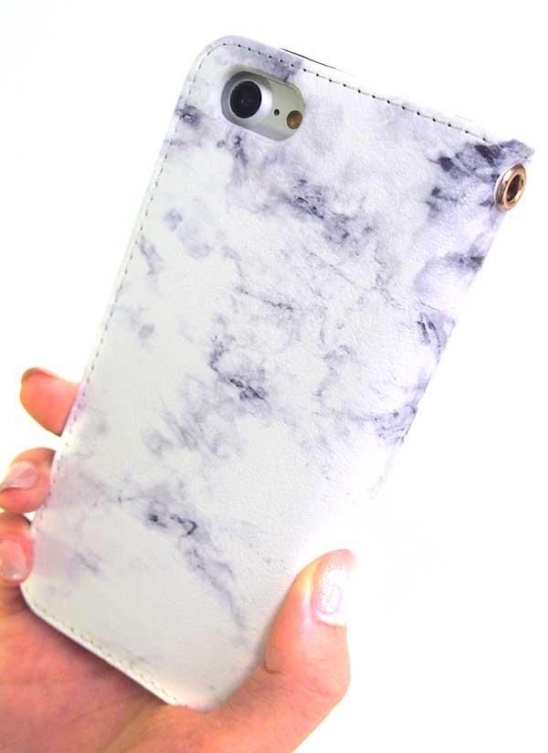 iPhoneベルト無し(帯無し)手帳型ケース