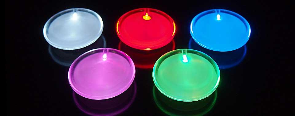 光るLEDバッジ(5色)