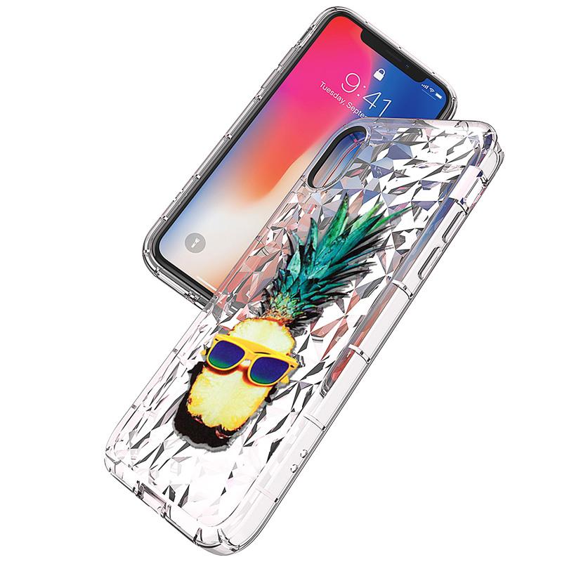 ダイヤモンド柄クリアiPhoneケース