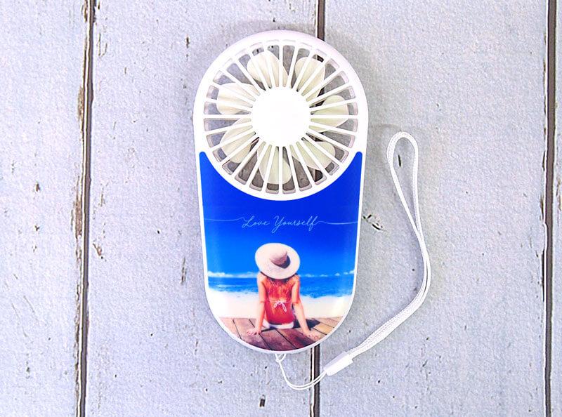 ミニファン・ミニ扇風機の名入れ|扇風機・ミニファンのオリジナル印刷・制作ならME-Q(メーク)