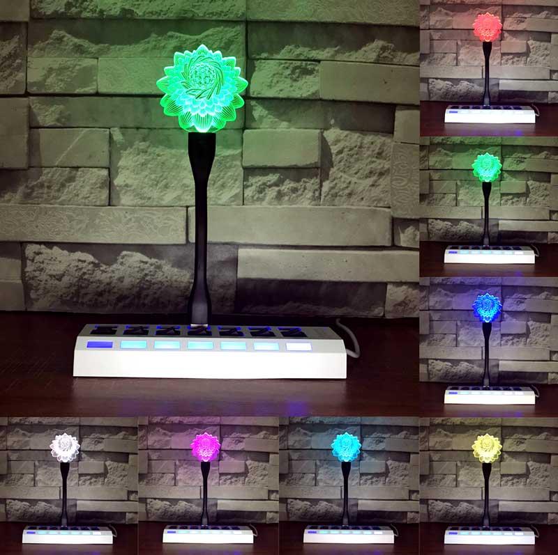 7色に変わるLED照明付きの光り輝くスタンド