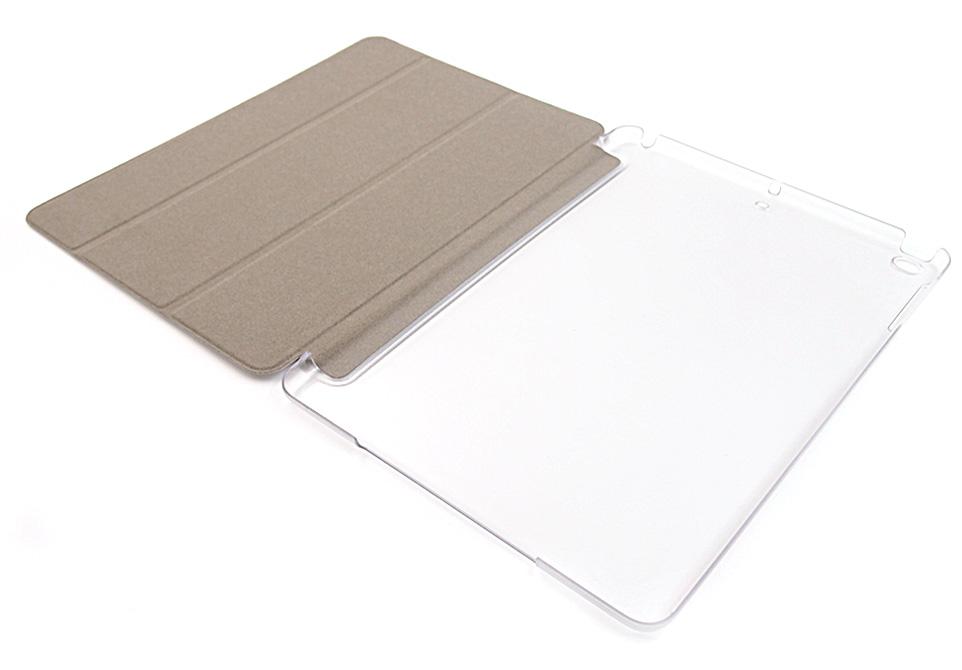 軽量で頑丈!高品質PUレザーと本体を保護するハードケースが手に馴染む。もちろん装着時でもiPad機能はそのまま