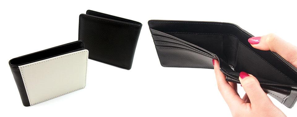 二つ折り財布(片面印刷)でオリジナルグッズ作成