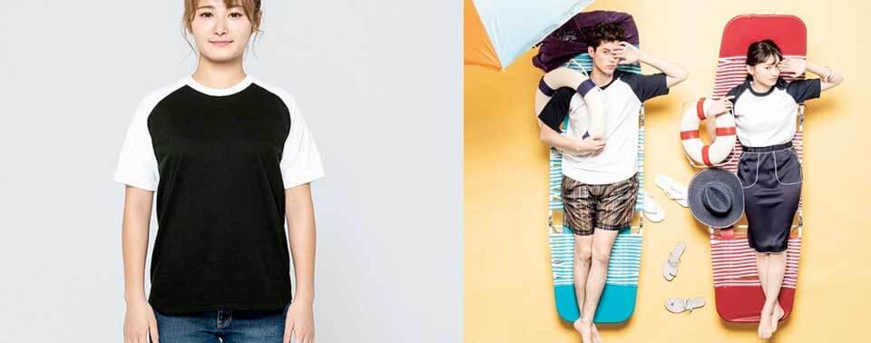 ラグランTシャツ00106-CRT|オリジナルTシャツ・長袖・トレーナー・パーカーを作るならME-Q