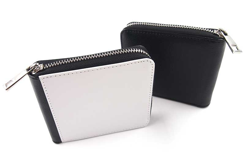 耐久性に優れたPUレザーで作られたオリジナル二つ折り財布