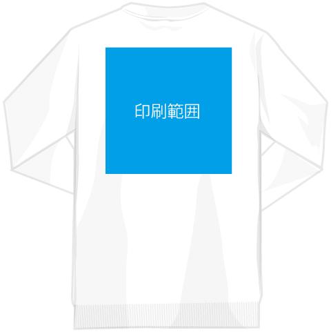 Tシャツへの印刷範囲(片面or両面対応可能)
