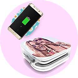 ケーブル収納Qi対応ワイヤレス充電器