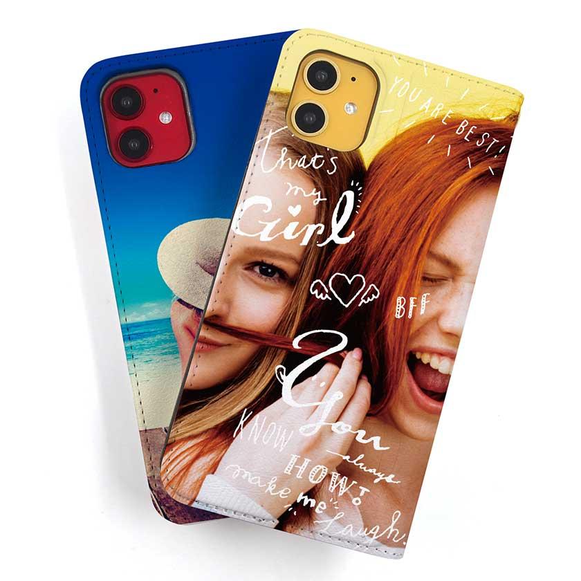 ベルト無し(帯無し)iPhone手帳型スマホケースのオリジナル印刷
