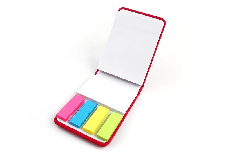 3種類の付箋がセットで!使い勝手がよいカバー付き付箋です。