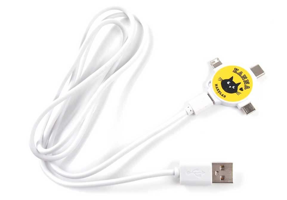3in1充電USBケーブル