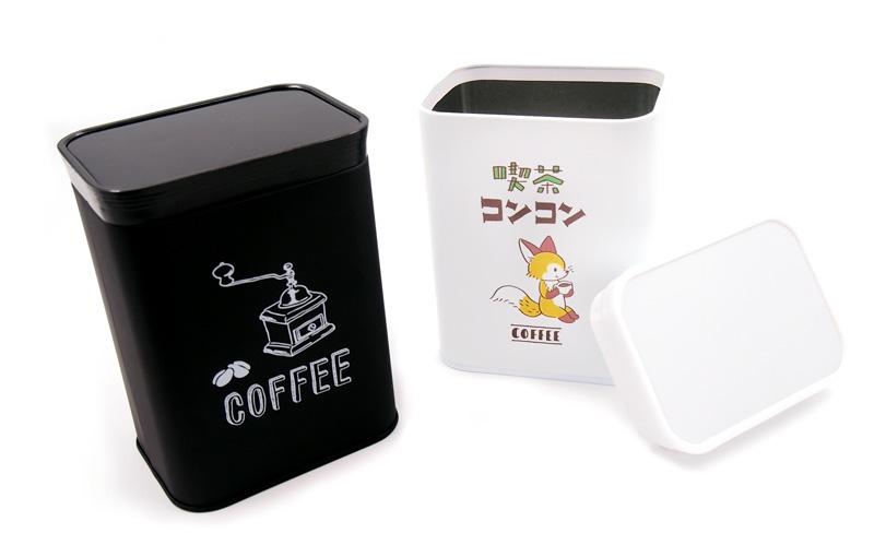 オリジナルコーヒー缶・キャニスター缶|フルカラー印刷で小ロット1個から作れるオリジナル缶。オリジナルプリントで作る珈琲缶ならME-Q(メーク)