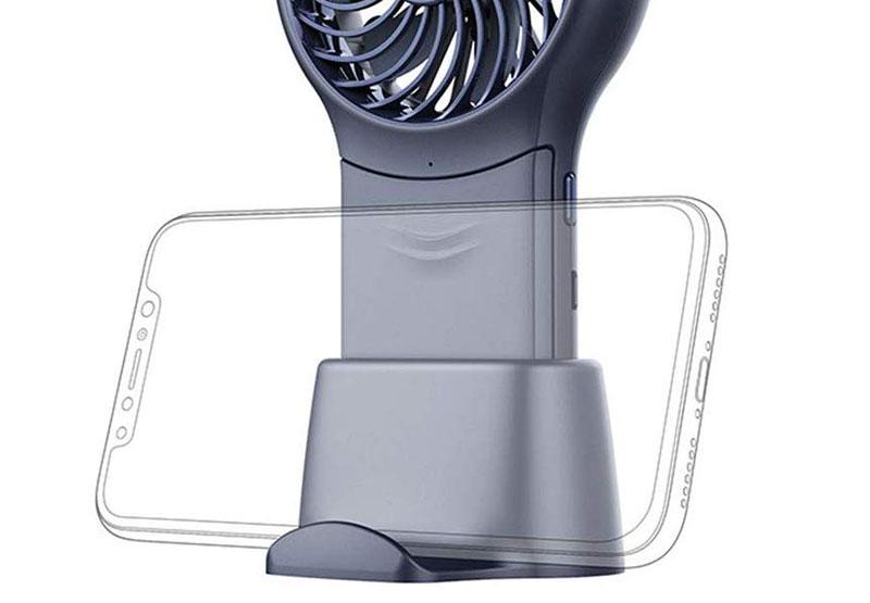 スマホスタンドとしても使える扇風機専用スタンド