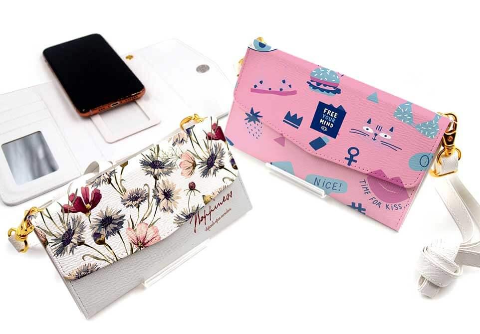 三つ折り手帳ケース(スライド式マルチタイプ)