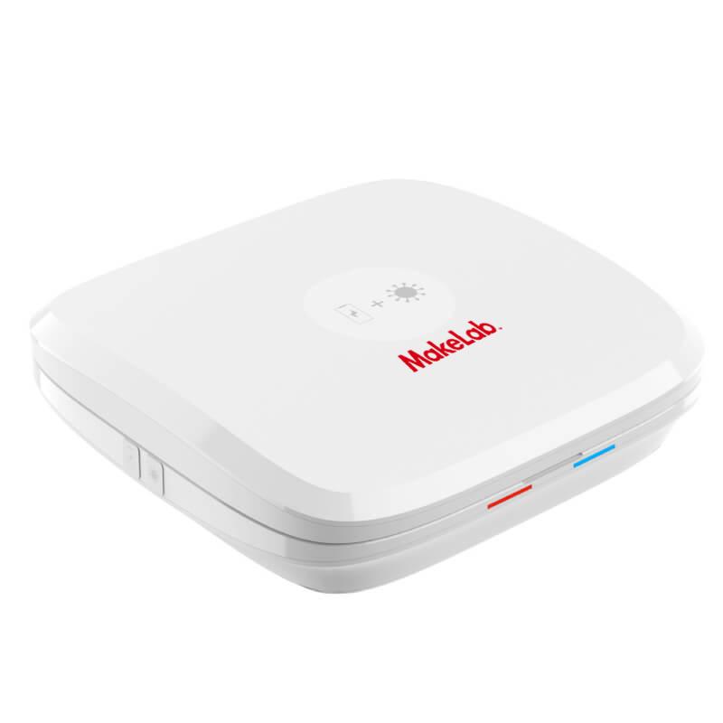 【オリジナル除菌グッズ】ウイルス除菌ボックスの名入れを1個から作成可能|充電機能付きウイルス対策デバイス「ウイルス除菌ボックス」ME-Q(メーク)