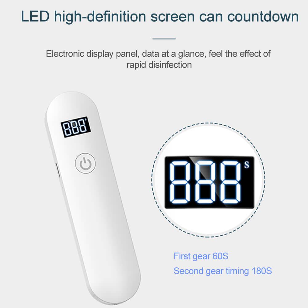 60秒または180秒で除菌!照射するだけで99.9%除菌!