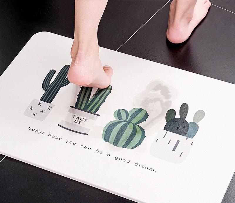 珪藻土バスマット・キッチンの水切りマットのオリジナル印刷を1個からオーダー可能|珪藻土グッズの作成・OEM・名入れならME-Q(メーク)