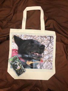 マイロアイテム第二弾届きました。来月からレビ袋有料化ですので、マイバッグを頼みました。コレで一緒に買い物がてらにお散歩に一緒に行けますね