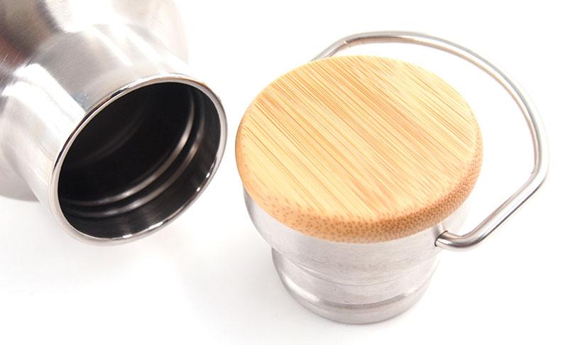 バンブー(竹)製のフタが個性的!センス溢れるマイボトルが作れます!