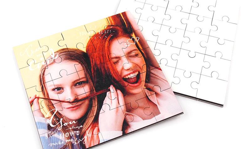 1個から注文可能。フルカラーで全面印刷できるオリジナルパズル作成!