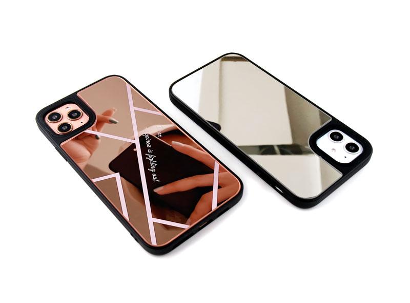 耐衝撃ミラーケースのオリジナル印刷を1個から作成|背面ミラーの耐衝撃iPhoneオリジナルケースを作るならME-Q(メーク)
