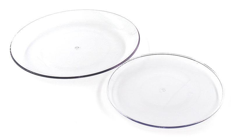 食洗機対応。日本製のプラスチック製のクリアプレート(お皿)