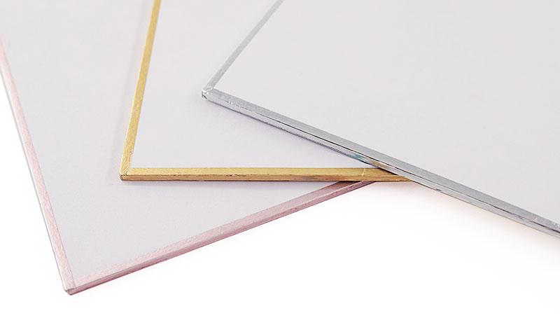 色紙の縁(フチ)カラーは3色ご用意