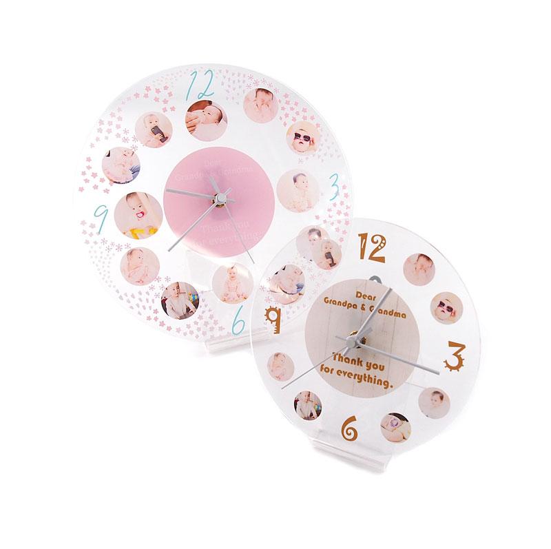 アクリル時計の自作・オリジナル時計印刷制作・オーダーメイドなら作り方簡単。1個から作成できるME-Q(メーク)
