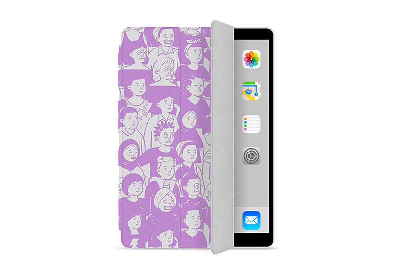人気の手帳型・三つ折りタイプのiPadケースを1個からオリジナルで作成