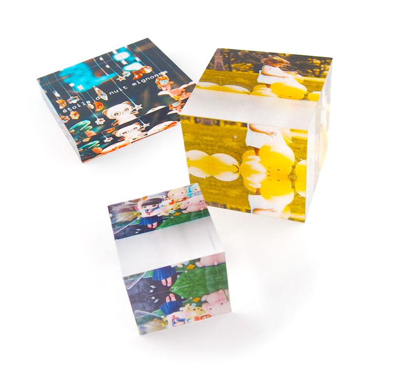 アクリルキューブ・ブロックのオリジナル印刷を1個から作成|同人・写真・フォトキューブ・イラストをアクリルグッズに自作・プリントできるME-Q(メーク)