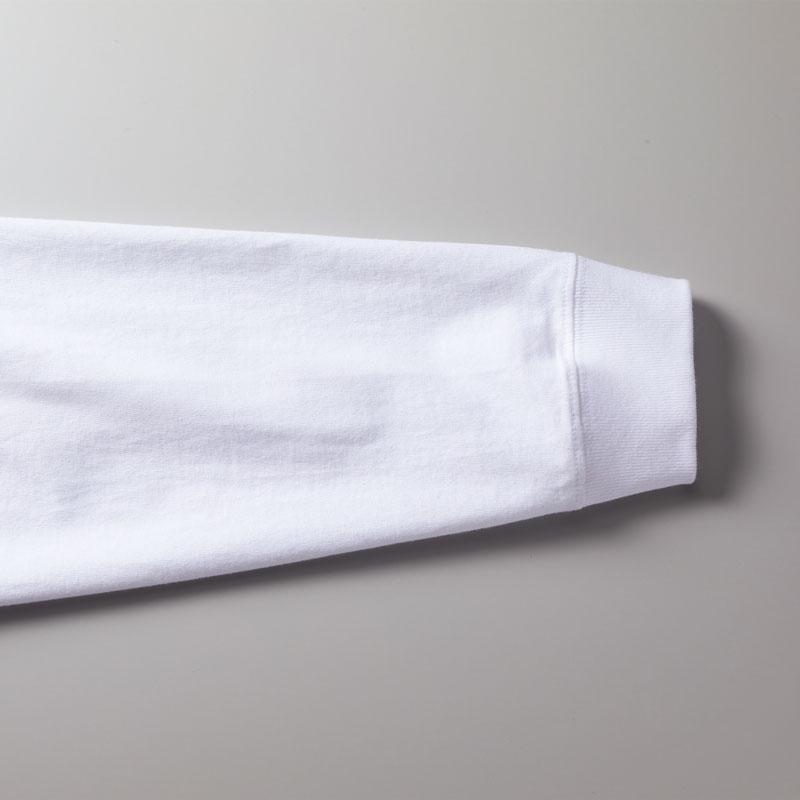 袖口の身頃とリブのシームラインは丈夫なダブルステッチ仕上げ