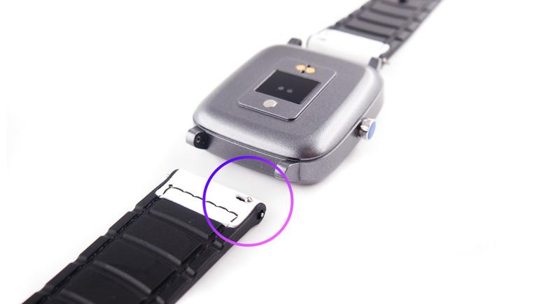 スライドレバー式スプリングバー仕様でApple Watch以外にも取り付け可能。