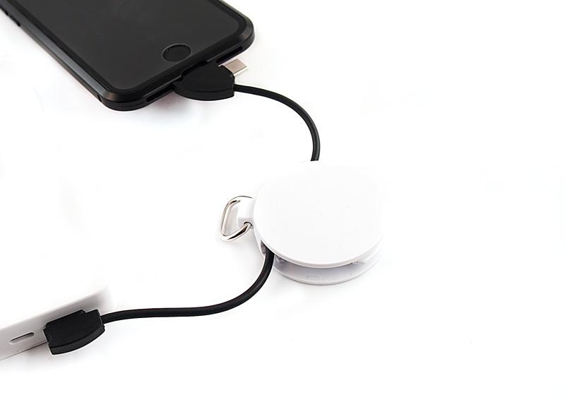 簡単収納!1本で3役。自宅・旅行・外出で役立つ充電ケーブルキーホルダー