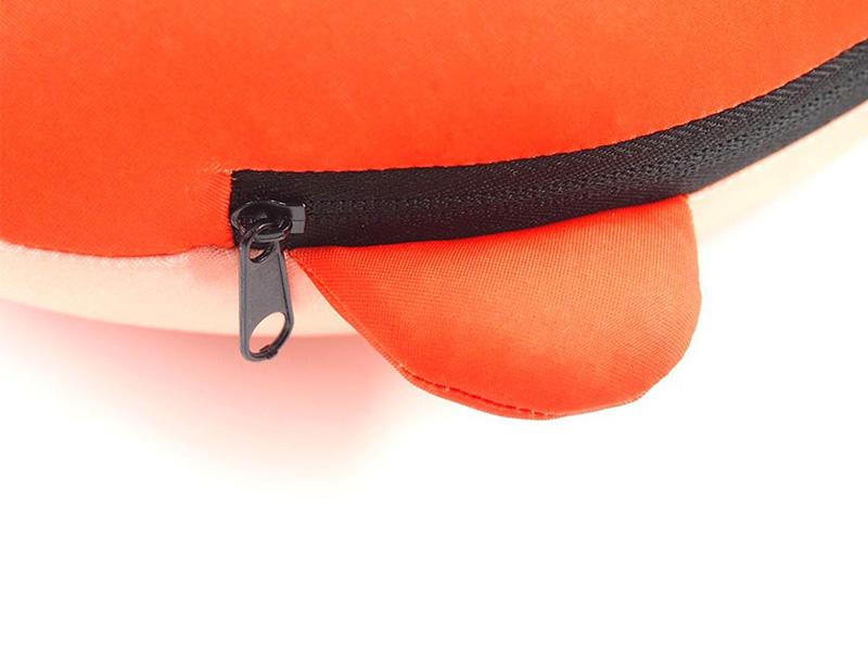 ぬいぐるみ型 表裏収納式 首枕ネックピロー4
