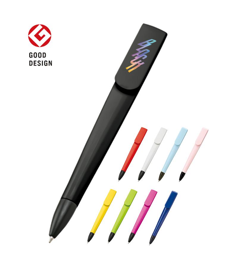 ラペルボールペンの名入れ・オリジナル|「グッドデザイン賞」受賞のスリムで名入れ映えするボールペンを1個から作成できるME-Q(メーク)