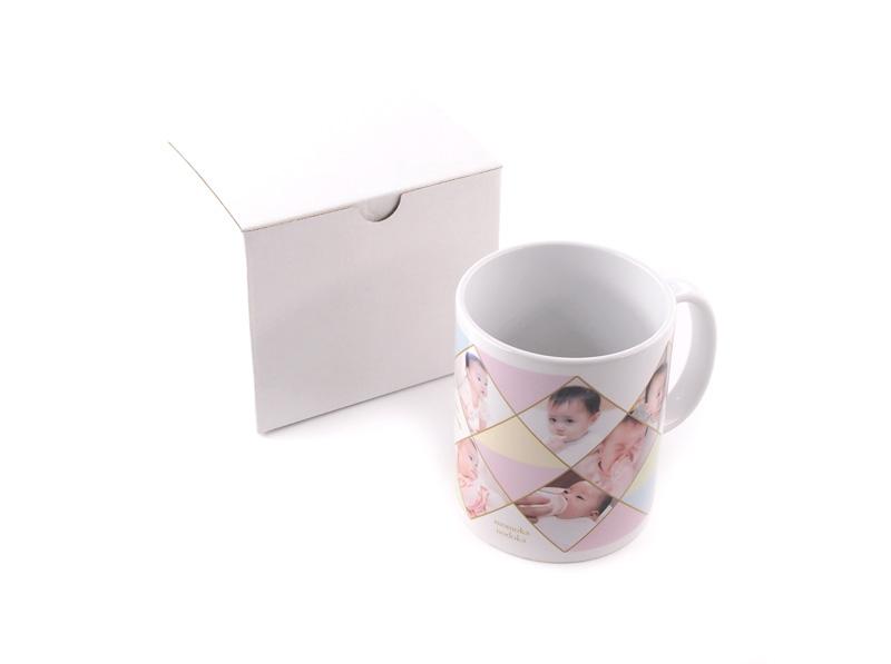マグカップをはお1つずつ箱に入れてお届けします。
