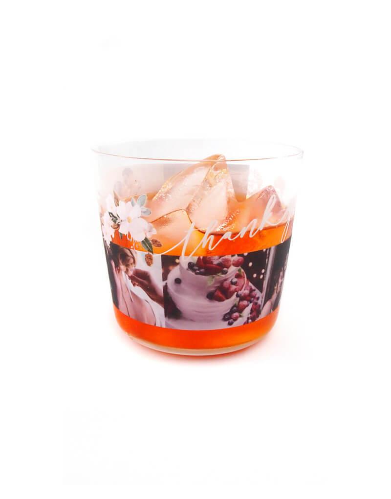 【360度フルカラー印刷可能】オリジナルの薄グラスを1個から作成・自作・名入れできるロックグラス