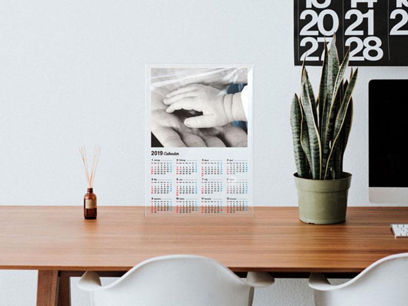 アクリル カレンダーの印刷