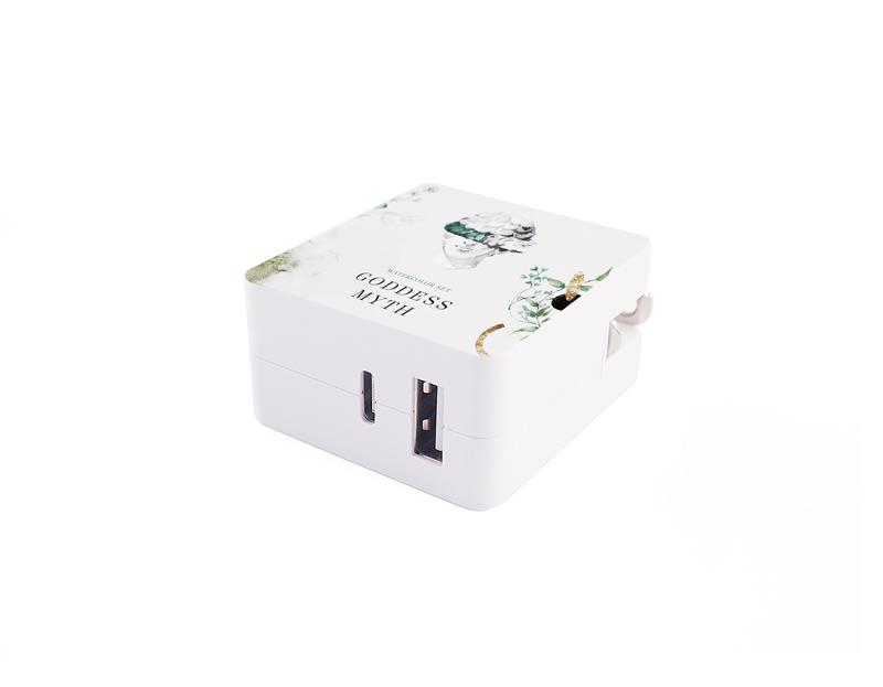 急速充電2ポートACアダプタ(USB+Type-C)の特徴