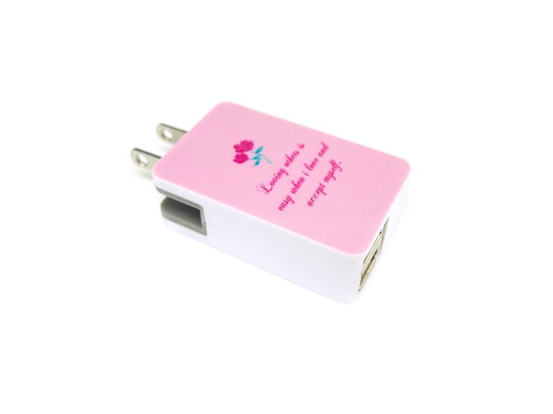 急速充電USBとType-C搭載ACアダプタ印刷