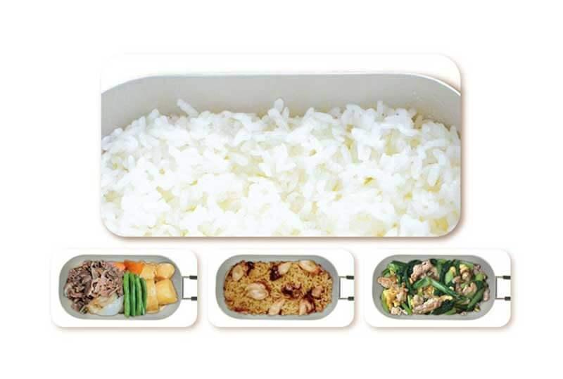 「500ml」ご飯は約1合分。ちょうど良いコンパクトサイズ