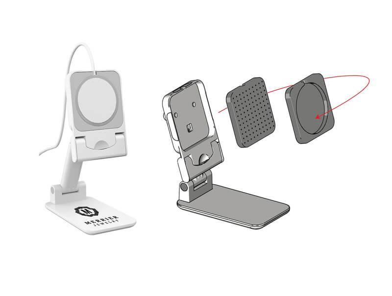 iPhone MagSafe充電器との互換性もある充電しながら使用できるスマホスタンド