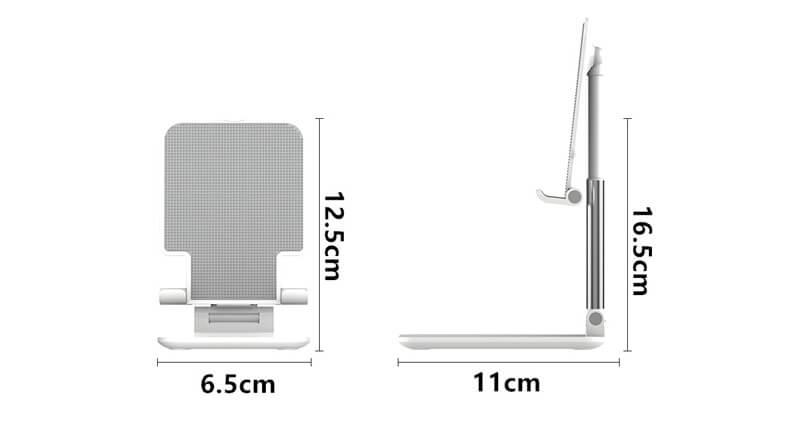 折り畳み式スマホスタンドのサイズ