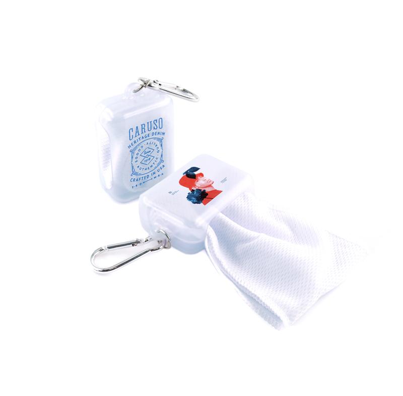 冷感スカーフ収納カラビナケースのオリジナル印刷・プリント