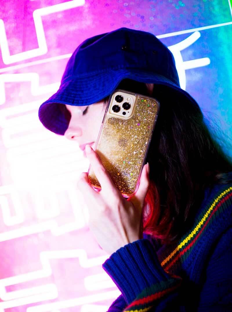 【ME-Q】スノードームみたいに、きらきら光る グリッターケース